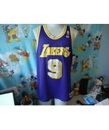 Vintage 90's Los Angeles Lakers Nick Van Exel Champion NBA Jersey 48  - $89.09