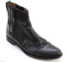 LOUIS VUITTON Boot Men's Black Leather Pull-On Ankle DAMIER Trim Sz 9 - $321.75