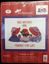2005 Red Hatters are Friends for Life Counted Cross Stitch Kit #51536 Ca... - $8.68