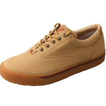 Twisted X Men's Hooey Lopers Beige Canvas Sneaklers Casual Shoes Mhyc003 10 1/2 image 2