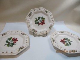 3 Orchard Salad Plates David Davir Nikko Classic Collection - $20.79