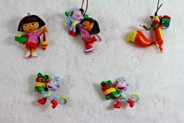 Dora the Explorer Christmas Tree Decorations 5 Mini Ornaments Dora Boots... - $12.86