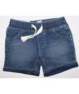 baby Gap NWT Girl Boy 3 6 12 Blue Denim Knit Jean Shorts w/ Rolled Cuff - $22.47