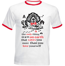 Spring Spaniel Is The Only Thing - New Red Ringer Cotton Tshirt - $26.20