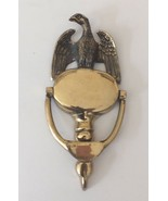 VINTAGE BRASS EAGLE SHIELD DOOR KNOCKER MADE IN ENGLAND 8 INCHES HIGH - £15.61 GBP