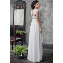 Designer Chiffon Wedding Dress High Waist Maternity Wedding Gown image 3