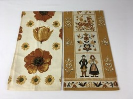 Lot Of 2 VTG Pennsylvania Dutch & Nasturtium Kitchen AMERICANA Tea Towel... - $9.95