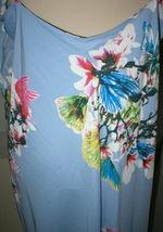 NWT New Designer Natori Womens XL Night Gown Silky Light Blue Pink White Flower image 8