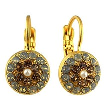 Mariana Jewelry Champagne and Caviar Earrings, Gold Plated with Crystal,... - $52.54