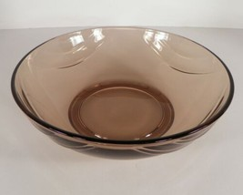Fostoria Crystal HORIZON Cinnamon Round Vegetable Salad Serving Bowl Glass - $24.70