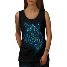 Wolf Beast Calm Animal Tee USA Animal Women Tank Top - $12.99