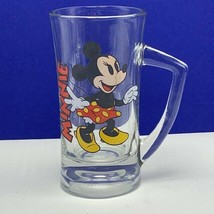Walt disney beer mug cup disneyland world Mickey Minnie Mouse glass glas... - $19.06
