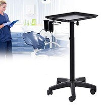 Mobile Hair Salon Trolley Cart, Aluminium Instrument Tray Stand Adjustable Heigh