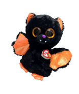 Ty Beanie Boos Echo Bat Halloween Plush Glitter Eyes Fall Stuffed Animal... - $12.55