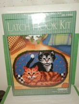 Natura Caron Latch Hook Kit Cuddly Kittens R703 20x27 Rug New Sealed Package - $34.60