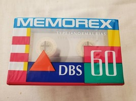 Lot Of 5 Vintage 80's Memorex DBS 60 Blank Cassette Tapes - $14.97