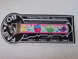 Cute Owls Fabric Key Chain Fob - $6.95