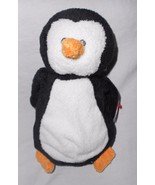 Ty Pluffies Waddles Penguin Plush Stuffed Animal Sewn Eyes 2007 Heart Tags - $32.65