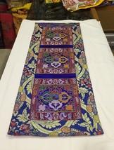 Tibetan Blue Double Dorje silk brocade table runner / shrine cover / alt... - $25.00