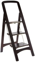 Wooden Folding 3 Step Ladder Wood Home Library Kitchen Portable Stool Ma... - $91.09