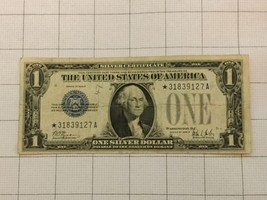 1928B US Silver Certificate $1 Dollar Bank Note Star Note - $150.00