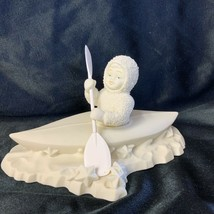 Dept 56 Snowbabies CROSSING STARRY SKIES #6834-9 in Canoe Figurine - $27.00