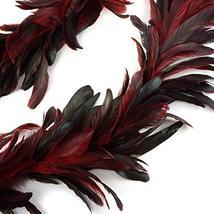 ZUCKER Dyed Bronze SCHLAPPEN Feather Garland RED image 3