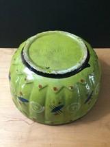 """Vintage 50s Tlaquepaque Mexican Pottery 9 1/2"""" Salad Bowl image 9"""
