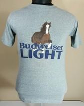 Vtg Budweiser Light Clydesdale T Shirt 50/50 Thin 70's 80's Beer Bud Spu... - $49.99