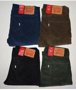 Levis 511 Slim Fit Corduroy Pants Green Brown Black Blue Beige Tan Levi'... - $49.00