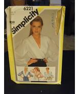 Simplicity 6221 Misses Front Wrap Blouse Pattern - Size 12 Bust 34 - $8.90