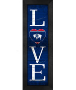 """""""LOVE Wyoming"""" State Pride With Flag 8 x 24 Framed Print - $39.95"""