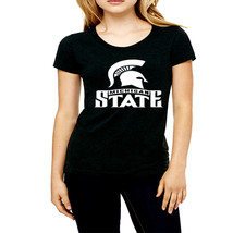 Michigan State high quality cheapest price black cotton t shirt for women - $19.99+