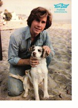 Parker Stevenson teen magazine pinup clipping Teen Beat at the beach sand dog