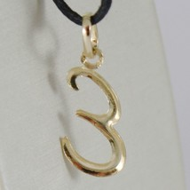 18K YELLOW GOLD PENDANT CHARM INITIAL LETTER E, MADE IN ITALY 1.0 INCHES, 25 MM image 2