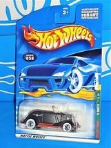 Hot Wheels 2001 Rat Rod Series #58 '33 Roadster Black w/ WWBWs - $2.00