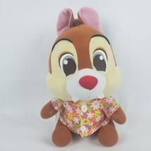 "Disney Chip & Dale 14"" Plush Dale Chipmunk Hawaiian Shirt Red Nose Big Head - $48.38"