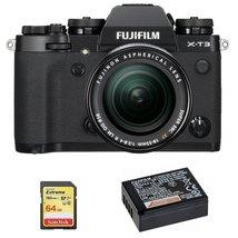 Fuji X-T3 Black Kit Xf 18-55mm F2.8-4R Black + 64GB Sd Card + NP-W126S Battery - $1,779.33