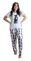 Dog Black Pitbull pajama set with pants for women - $35.00