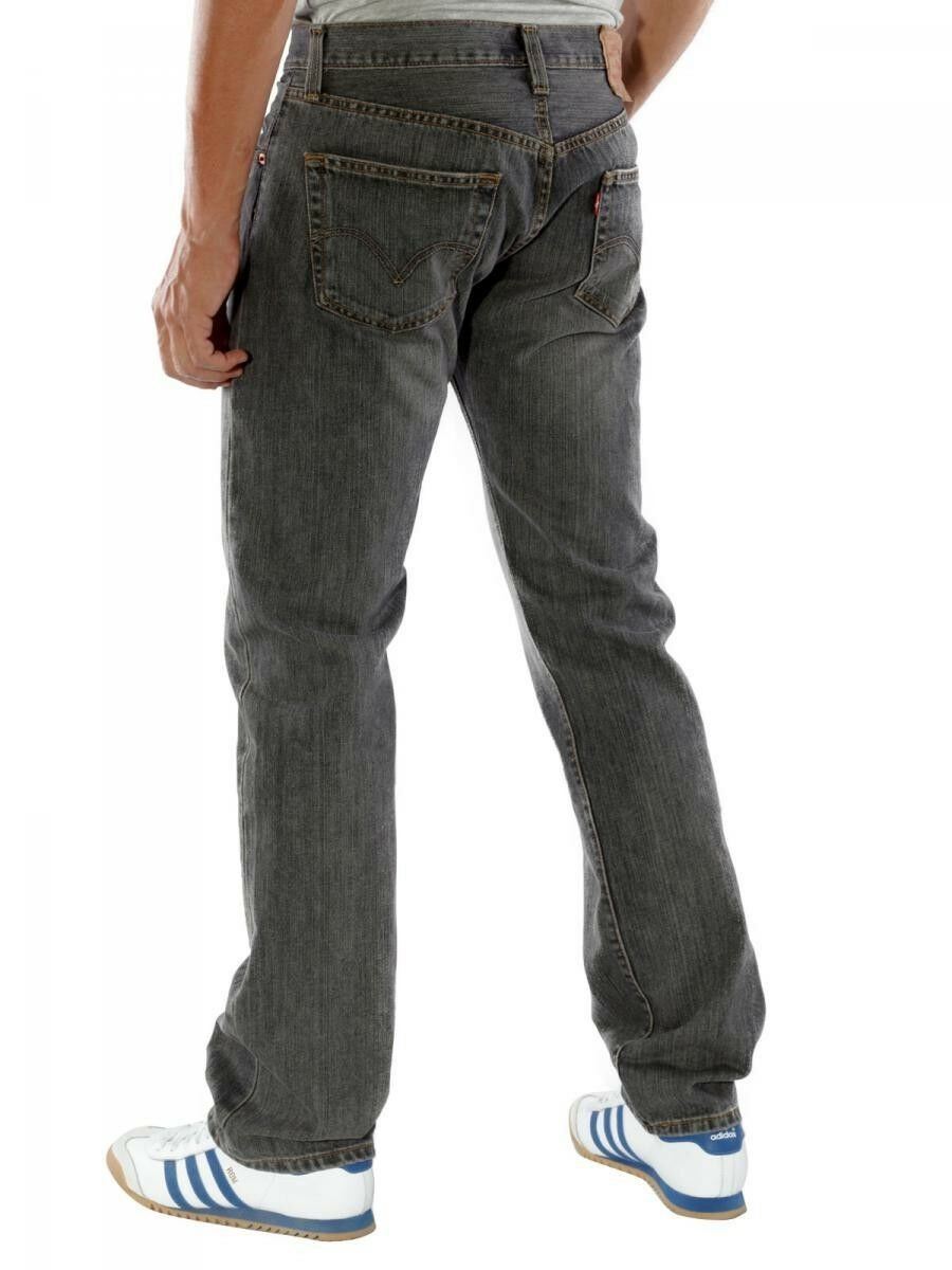 NEW LEVI'S 501 MEN'S ORIGINAL STRAIGHT LEG JEANS BUTTON FLY GRAY 501-6275