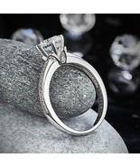 Disney S925 Round Solitaire 1.25 Diamond Flower Wedding Promise Engageme... - $56.45