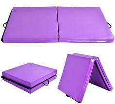 Women's Purple Gymnastics Folding Foldable Mat For Yoga Aerobic Gym Fitn... - $2.175,36 MXN