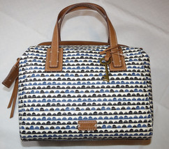 Fossil  ZB7136469 Emma Satchel Blue Print handbag purse convert crossbod... - $90.08