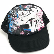 90s VANS Snapback Trucker Hat Mesh One Size Adjustable Black 5 Panel  - $34.99