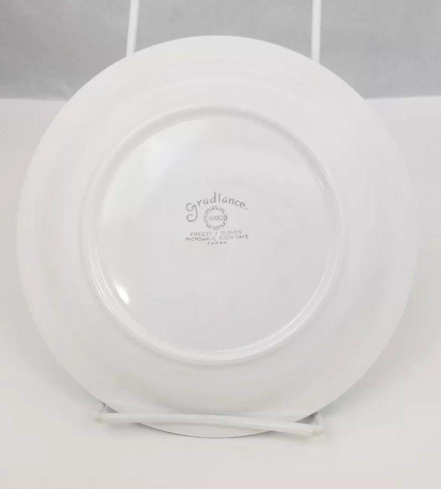 """Nikko Gradiance Bread Plate Set of 4 Azure Leafette Dish Microwave Safe 7.5"""" image 5"""
