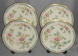 Set (4) Lenox MORNING BLOSSOM PATTERN Dinner Plates MADE IN USA - $110.87