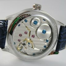CAPITAL WATCH MECHANICAL HAND WINDING TY3620/2 MOVEMENT 42 MM BLUE retrò style image 3