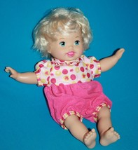 Mattel 2012 Little Mommy Laugh And Love Baby Doll Talks Head Arms Move - $15.45