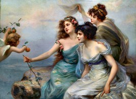 Die drei Grazien 1899 by Edouard Bisson Sexy Girls Old Masters 16x20 On Canvas - $173.25