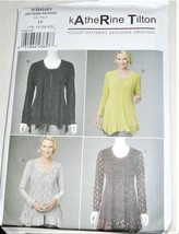 Pattern Vogue Designer Top Katherine Tilton V8691 (16-22) Uncut Factory ... - $9.79